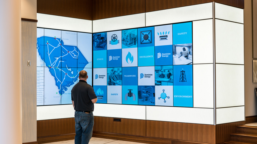 Dominion Energy Digital Wall